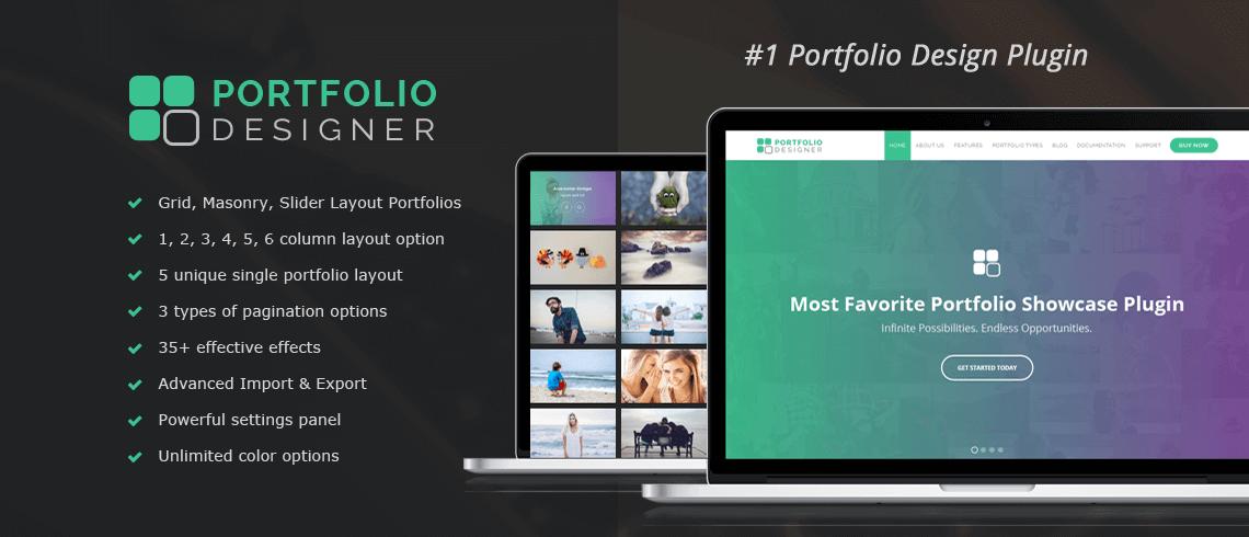 Portfolio designer WP plugin